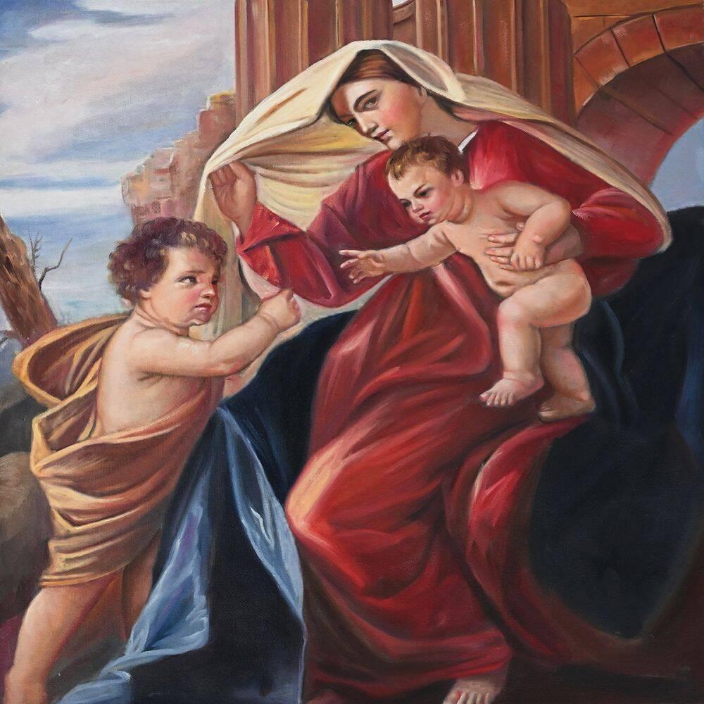 The Madonna with Child and Saint John the Baptist (Custom)