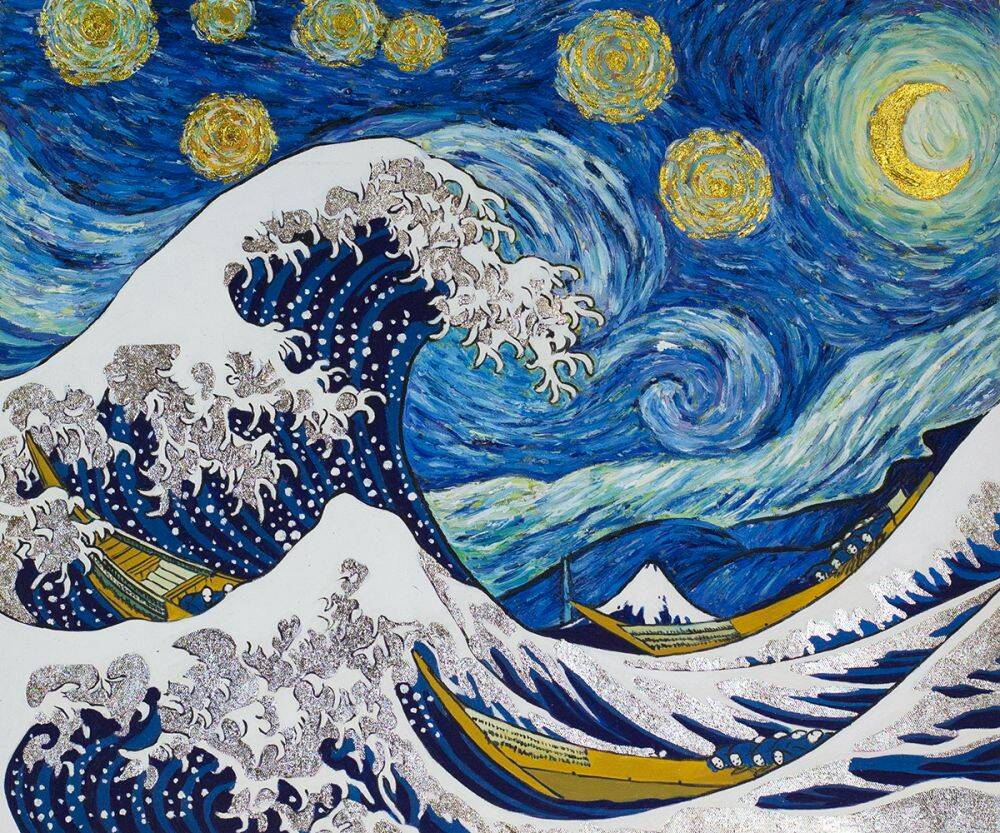Starry Night Wave Collage (Luxury Line)