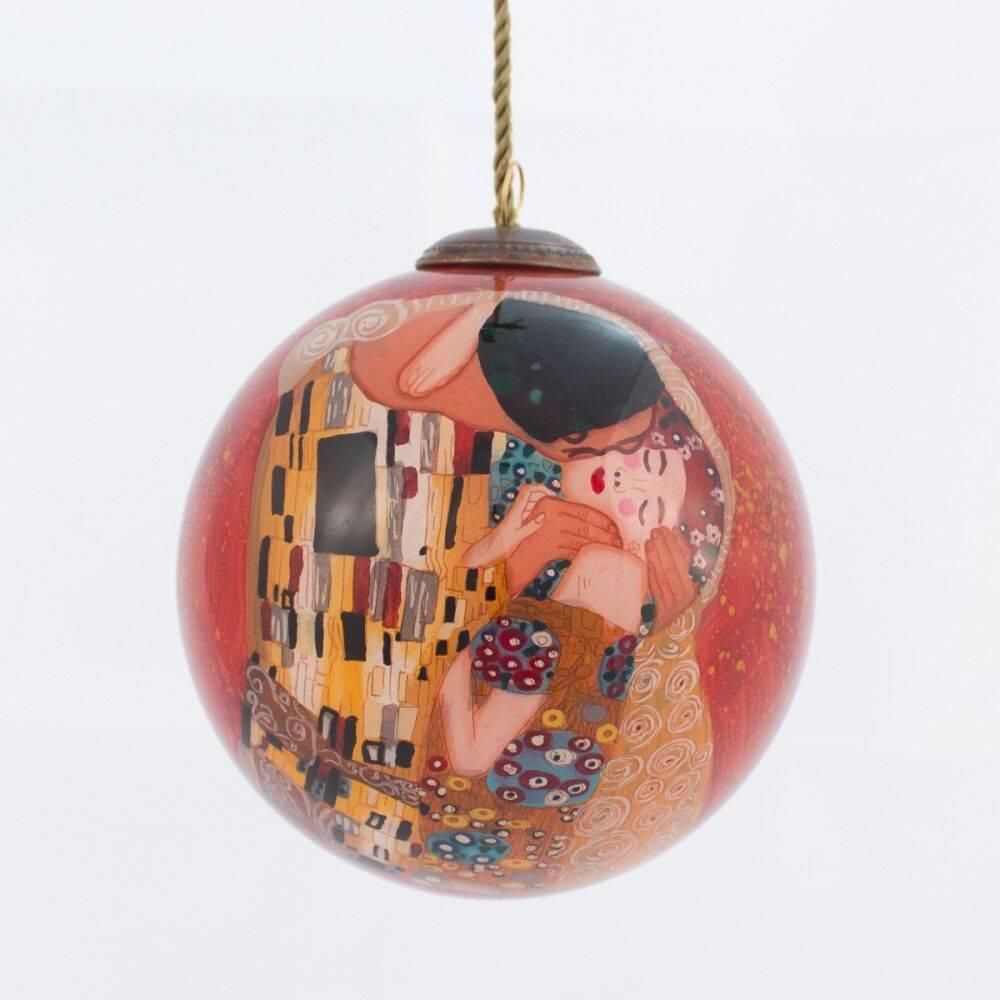 Gustav Klimt, The Kiss Glass Ornaments - overstockArt.com