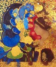 Woman Among the Flowers, 1910 (Luxury Line)