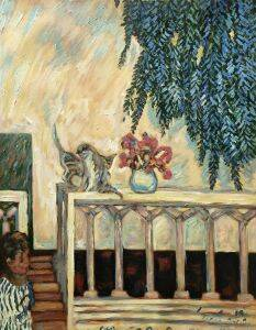 Cats on the Railing