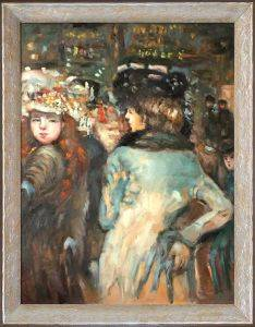 Place Clichy (Two Elegant Women) Preframed