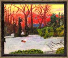 The Garden in the Snow, Sunset Preframed