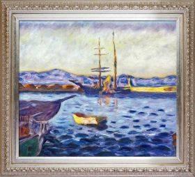 The Port of Saint-Tropez Pre-Framed