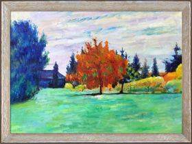 Yellow Tree, Le Clos au Grand-Lemps Preframed