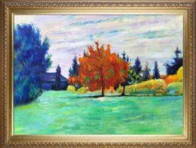 Yellow Tree, Le Clos au Grand-Lemps Preframed