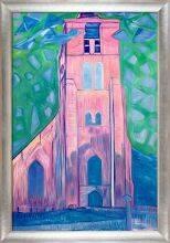 Church Tower in Zeeland Pre-Framed
