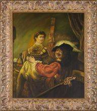 Rembrandt and Saskia in the Parable of the Prodigal Son Pre-Framed