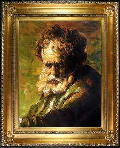 A Bust of an Old Man Pre-Framed