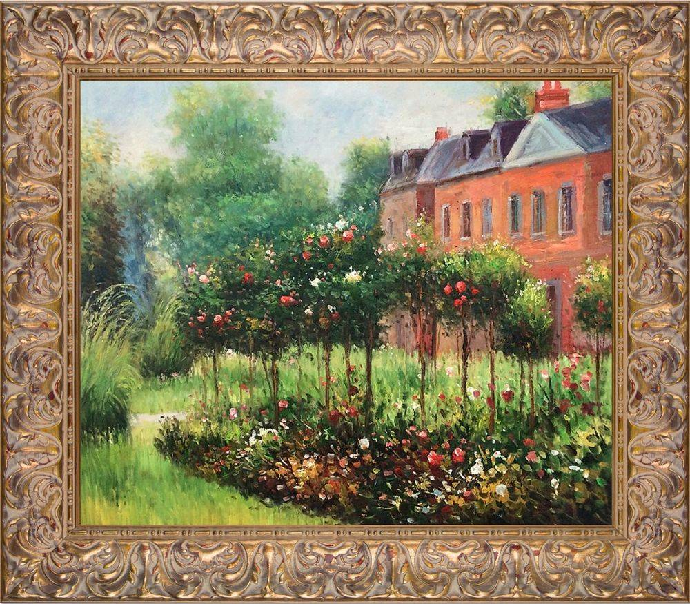 The Rose Garden at Wargemont, 1879 Pre-Framed