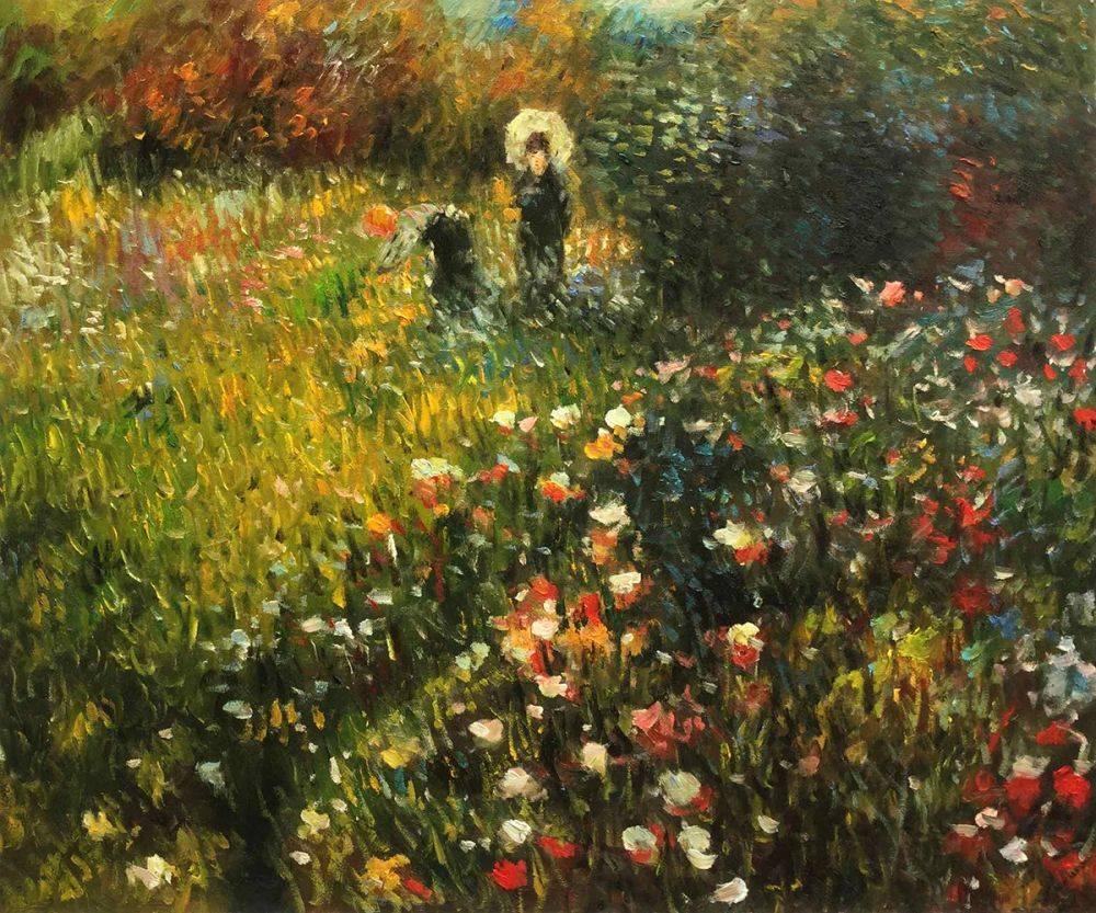 Woman with a parasol in a Garden (Frau mi Sonnenschirm