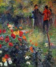 Garden in the Rue Cortot Montmartre
