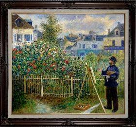 Monet Painting in His Garden at Argenteuil, 1873 Pre-Framed