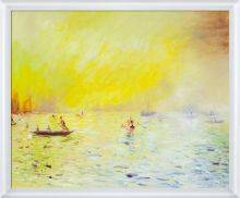 View of Venice, Fog Pre-Framed