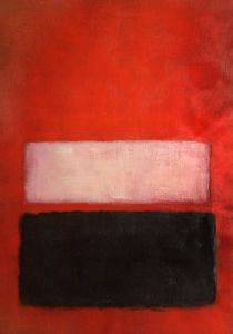 No. 46 (Black, Ochre, Red Over Red), 1957