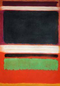 No. 3, No. 13 Magenta, Black, Green on Orange, 1949
