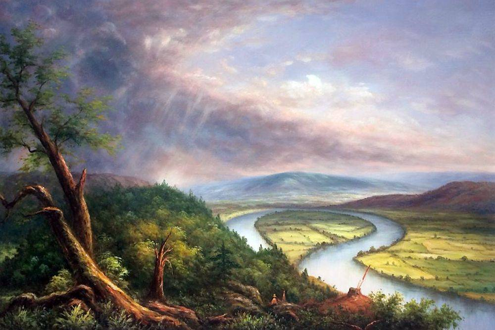 Sketch for View from Mount Holyoke, Northampton, Massachusetts, after a Thunderstorm (The Oxbow)