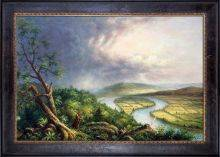 Sketch for View from Mount Holyoke, Northampton, Massachusetts, after a Thunderstorm (The Oxbow) Pre-Framed