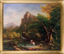 The Mountain Ford, 1846 Pre-Framed