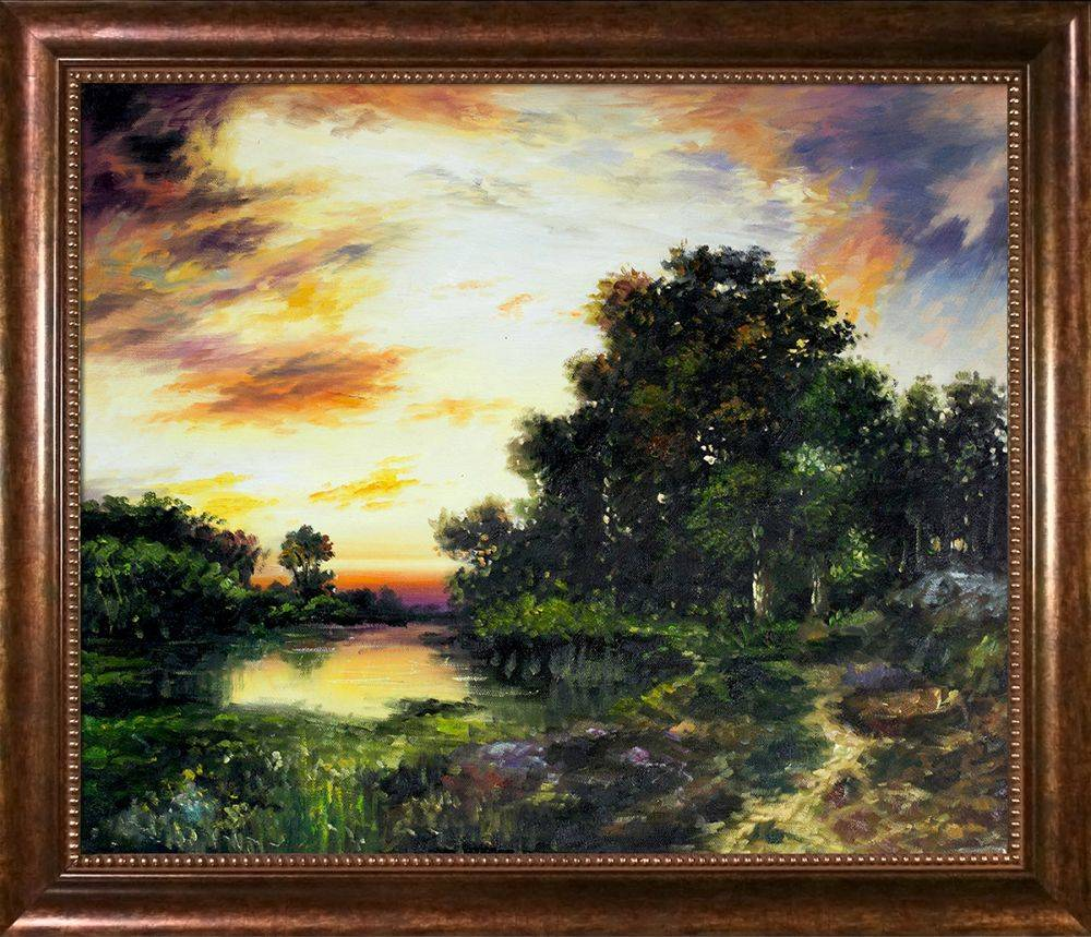 Sunset on Long Island Pre-Framed