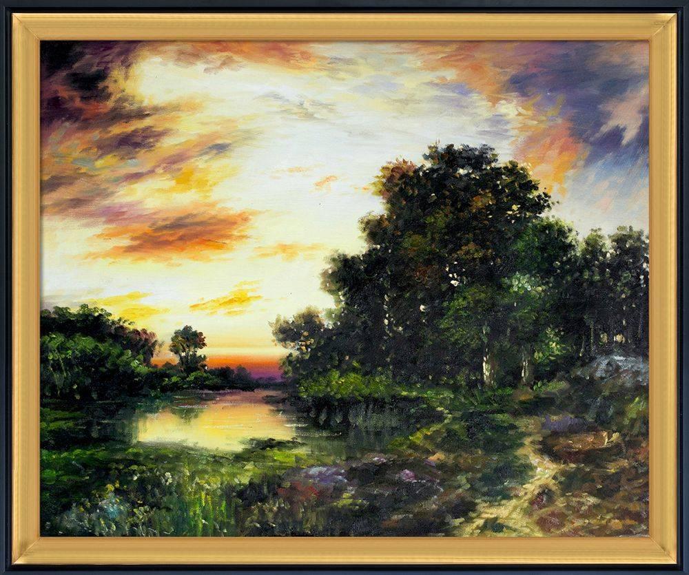 Sunset on Long Island Pre-Framed
