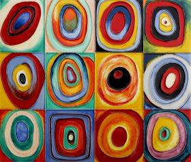 Farbstudie Quadrate Tile