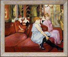 The Salon de la Rue des Moulins Preframed