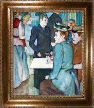 Corner in the Moulin de la Galette, 1892 Preframed