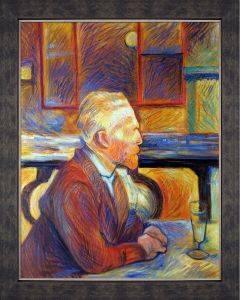 Portrait de Vincent van Gogh, 1887 Preframed