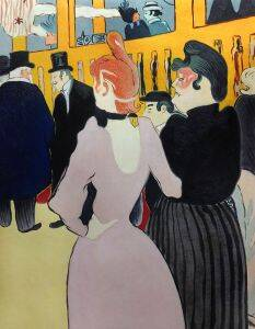 At the Moulin Rouge, La Goulue with Her Sister