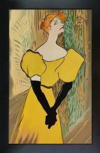 Yvette Guilbert Preframed