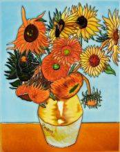 Sunflowers (artist interpretation) Tile