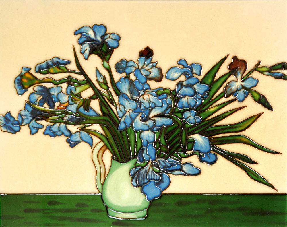 Vase of Irises(artist interpretation) Tile