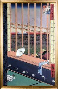Asakusa Ricefields and Torinomachi Festival, No. 101 from One Hundred Famous Views of Edo Pre-Framed