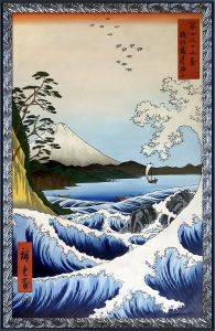 The Sea at Satta, Suruga Province, from Thirty-six Views of Mount Fuji Pre-Framed