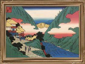 Sokokura, from Seven Hot Springs of Hakone Pre-Framed