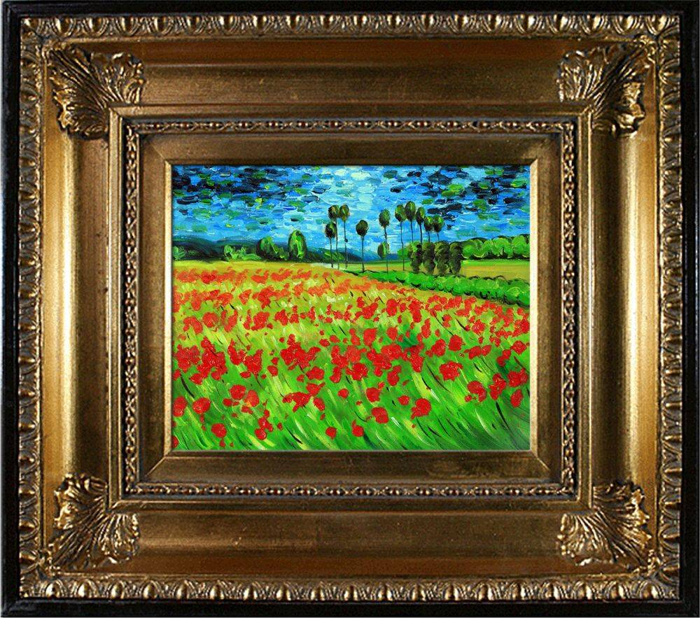 Field of Poppies Pre-Framed