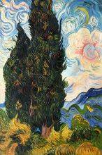 Two Cypresses