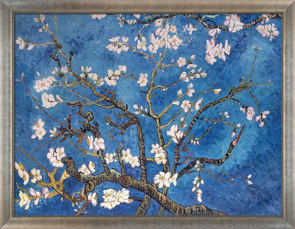 Branches of an Almond Tree in Blossom Pre-Framed