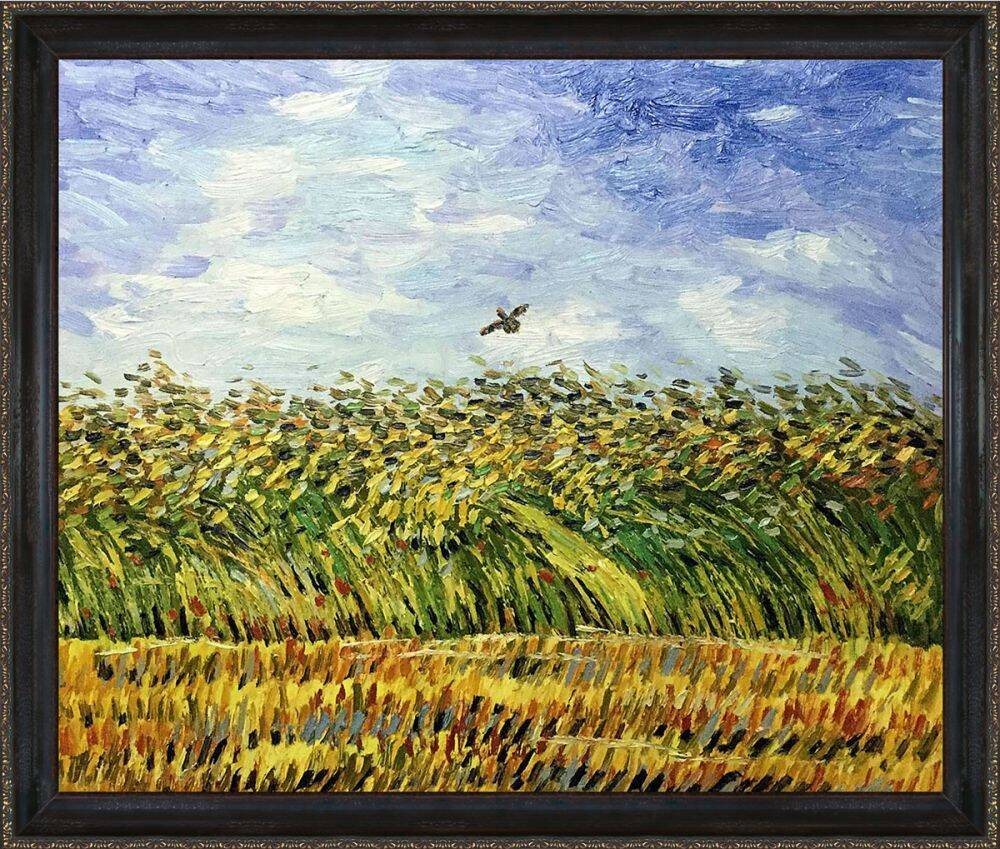 Edge of a Wheat Field with Poppies and a Lark Pre-Framed