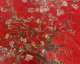 Branches of an Almond Tree in Blossom, Ruby Red