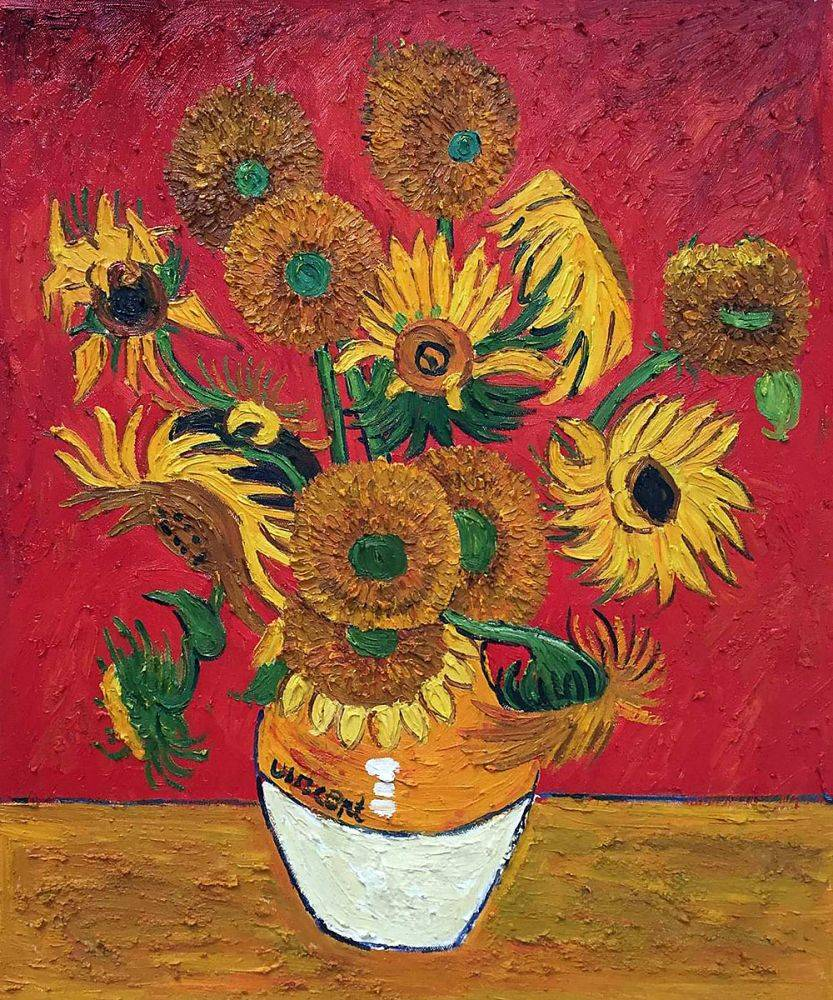 Sunflowers, Red