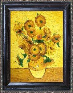 Vase with Fifteen Sunflowers Pre-Framed