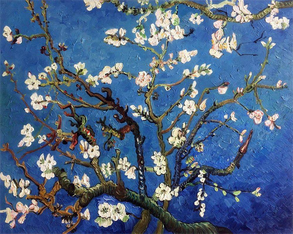Vincent Van Gogh Branches Of An Almond Tree In Blossom