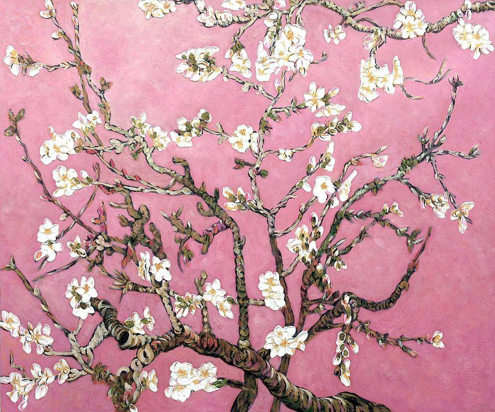 Branches Of An Almond Tree In Blossom Van Gogh