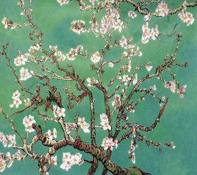 Branches of an Almond Tree in Blossom, Jade