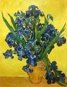 Irises in a Vase