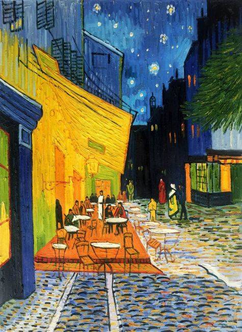 Cafe Terrace At Night Vincent Van Gogh Painting