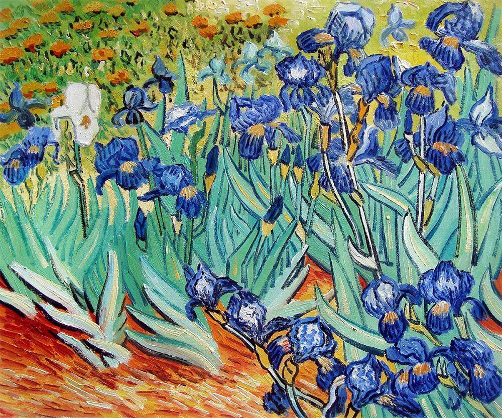 Iris paintings images galleries with for Mural van gogh