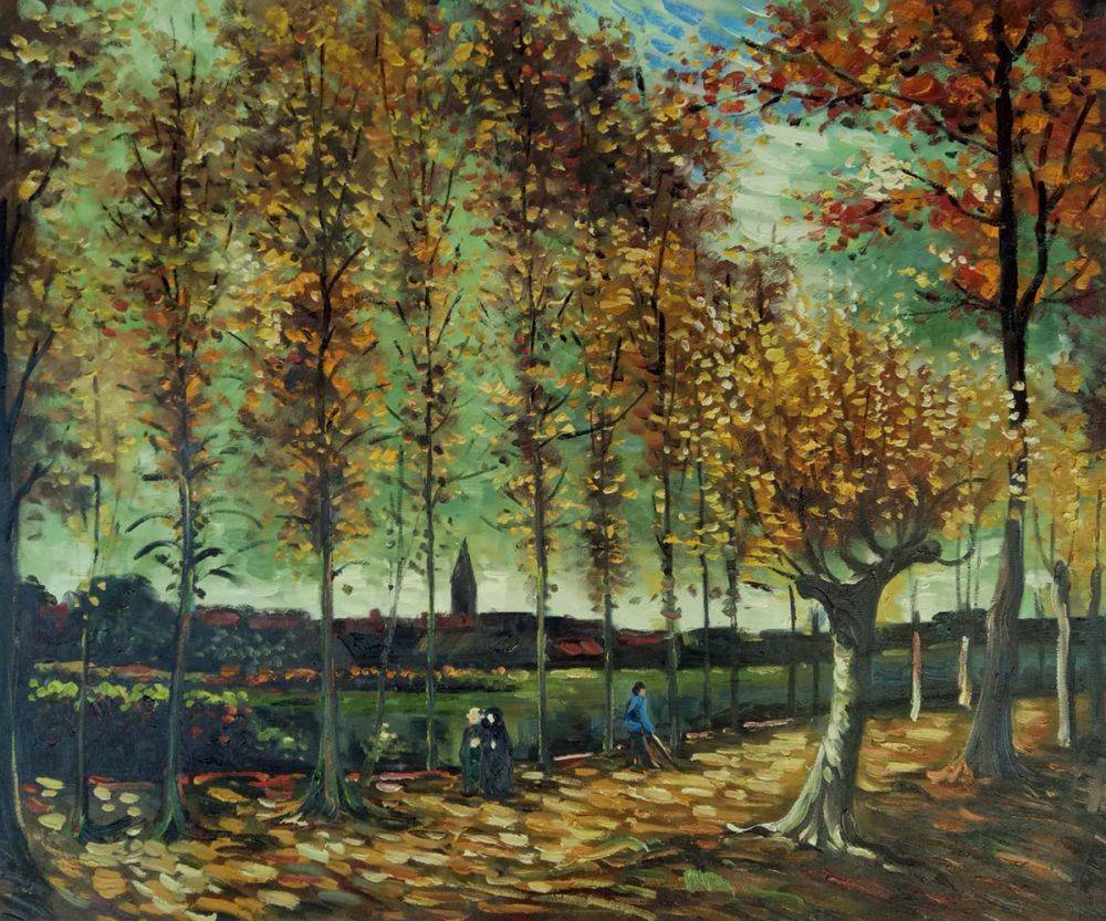 Lane with poplars near Nuenen